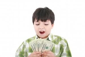Kid with money