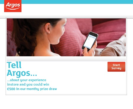 www.tellargos.co.uk | Argos Win £500 Cash Survey