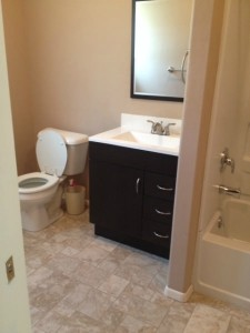 remodeled rental bathroom