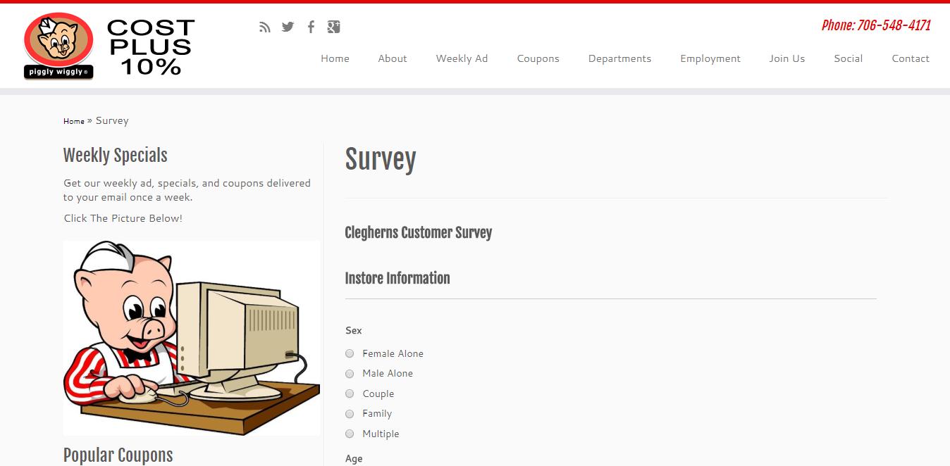 www.pigglywigglyathensga.com/survey/