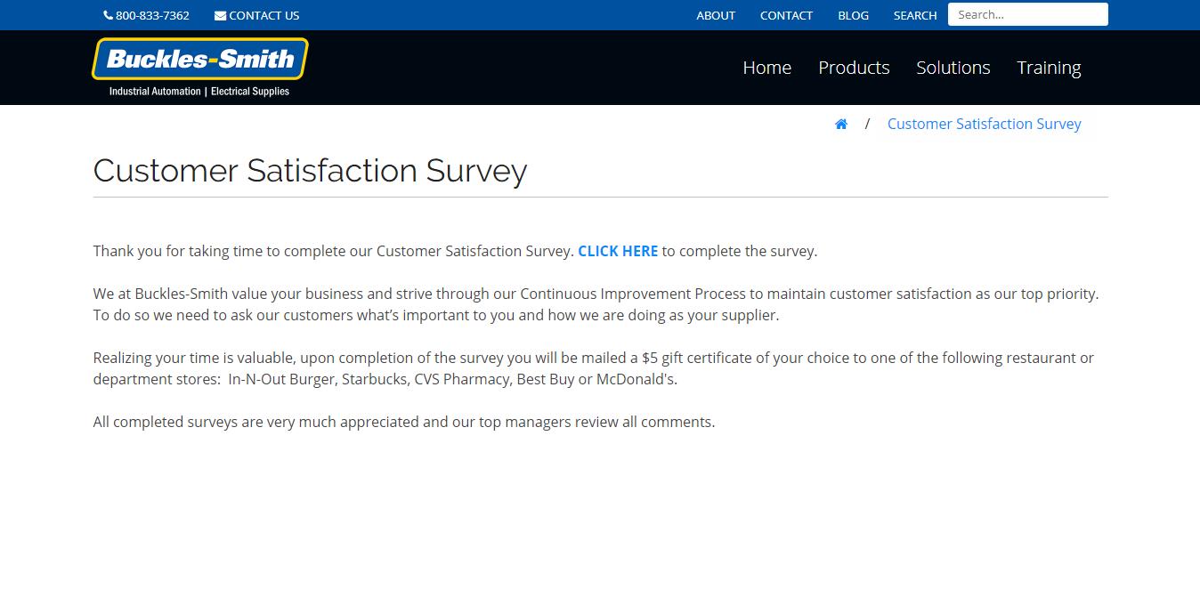 www.buckles-smith.com/customer-satisfaction-survey
