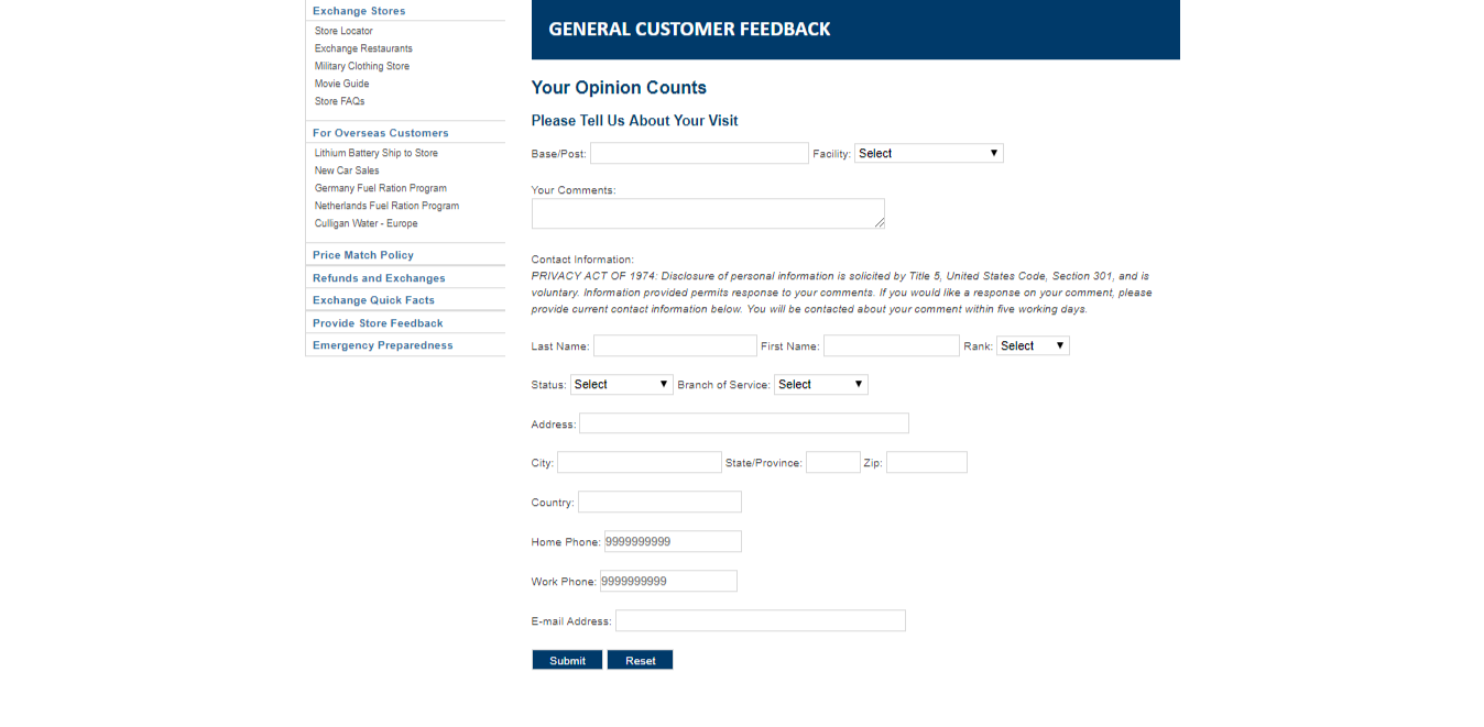 www.aafes.com/customerservice/feedback.aspx