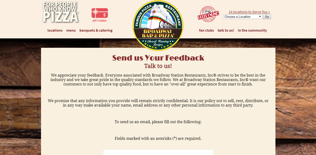 www.broadwaypizza.com/feedback.html