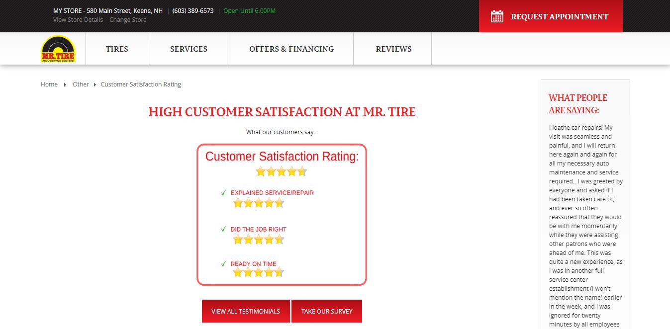 www.mrtire.com/CustomerSatisfaction