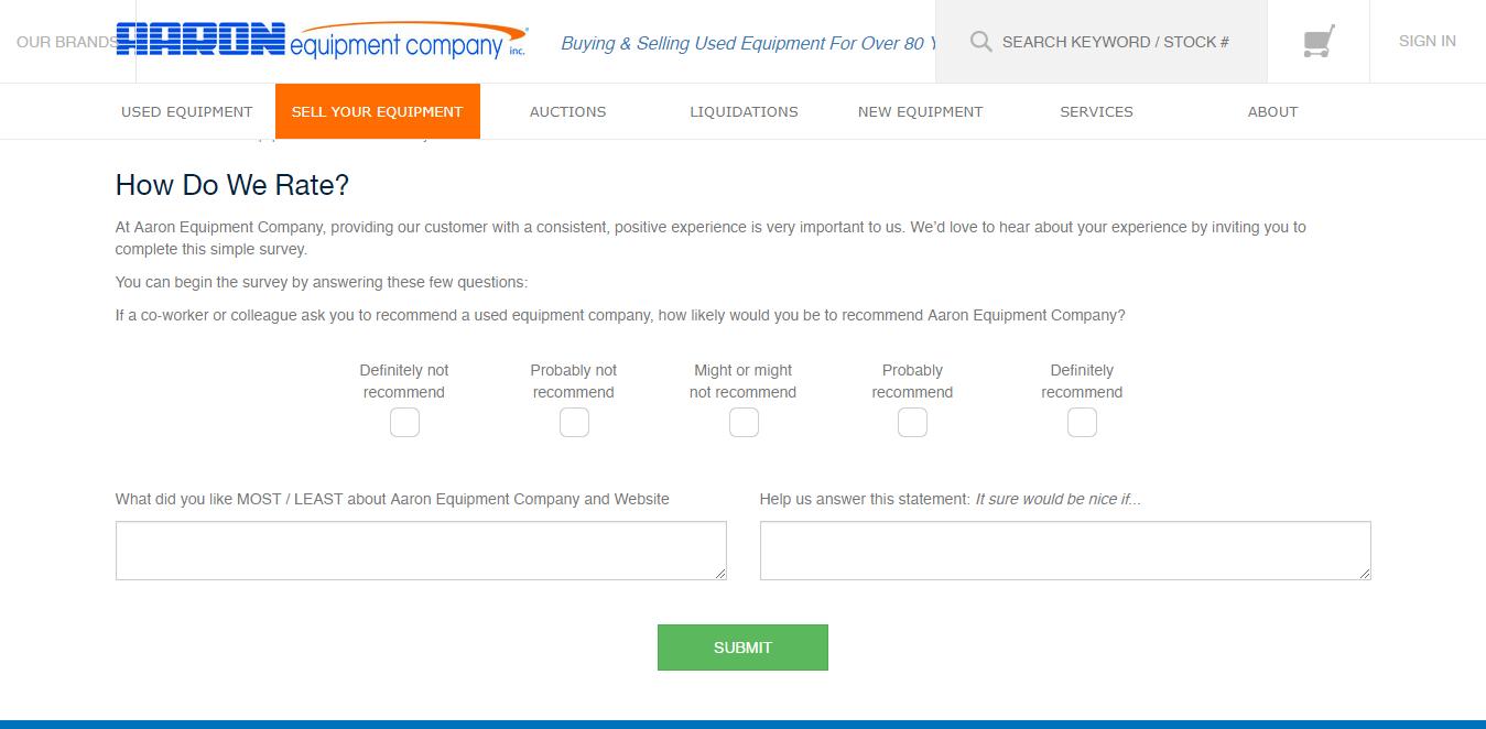 www.aaronequipment.com/survey