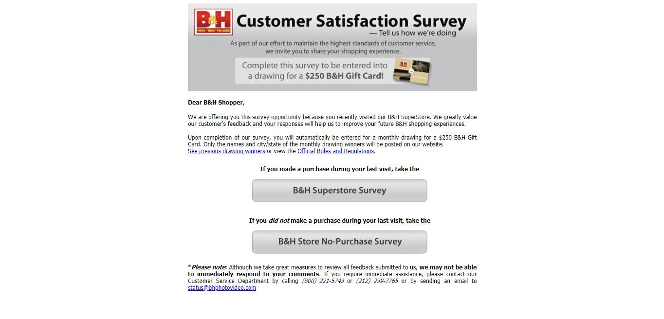 bhphoto.com/survey
