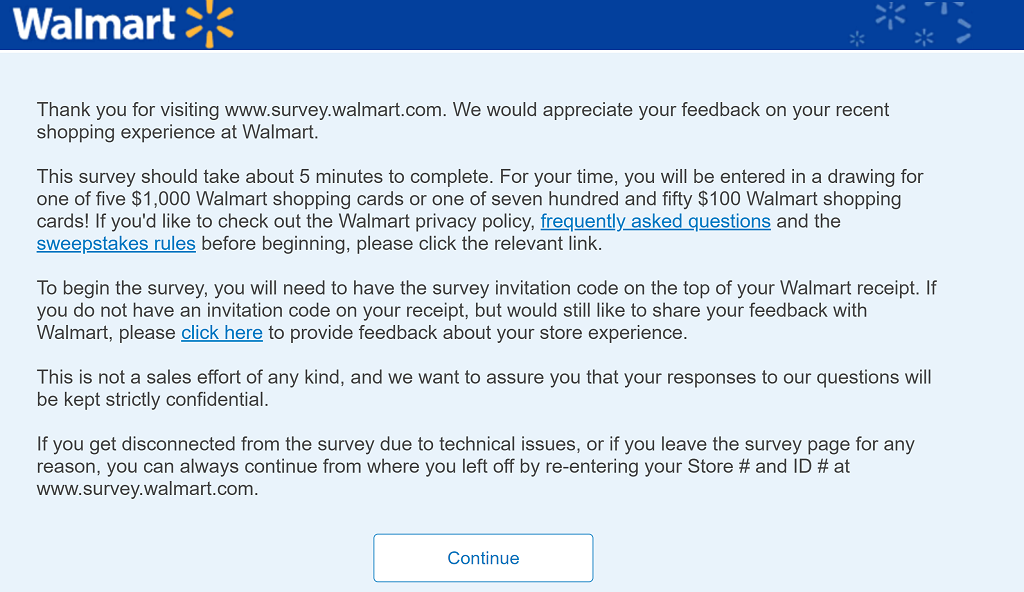 How Do I Find My Win One Walmart >> Walmart Survey Www Survey Walmart Com Win 1 000