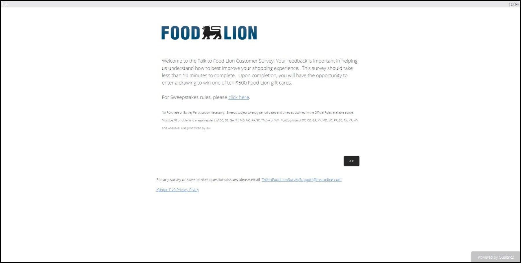 www.TalkToFoodLion.com