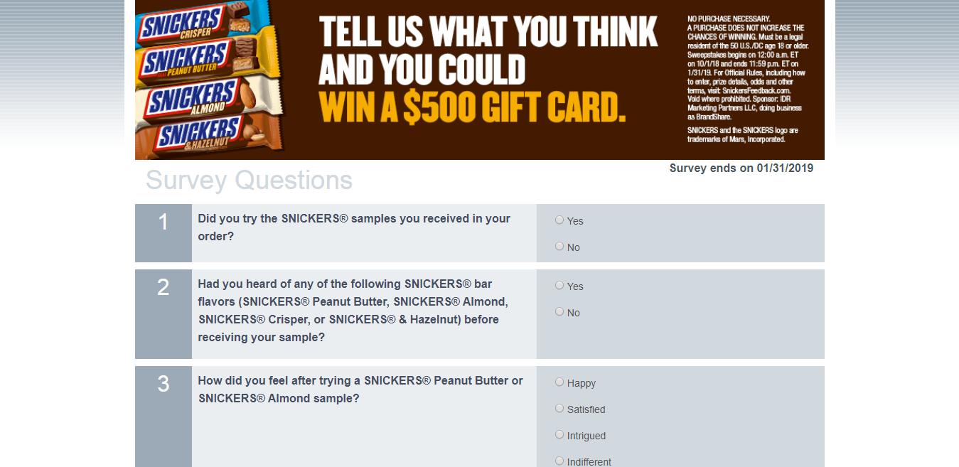 www.snickersfeedback.com