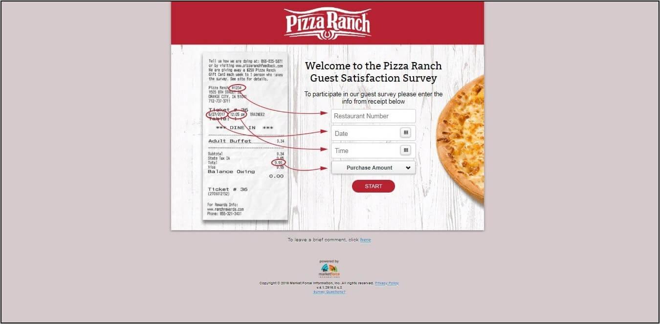www.PizzaRanchFeedback.com