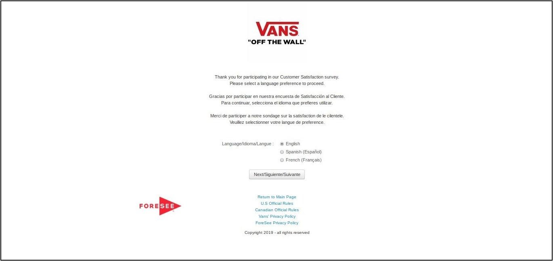 www.Vans.com/Feedback