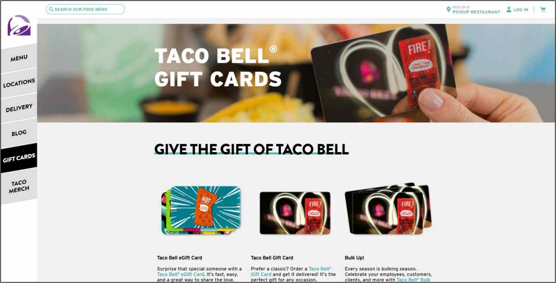 Taco Bell Gift Card – Reload, Check Balance & Redeem
