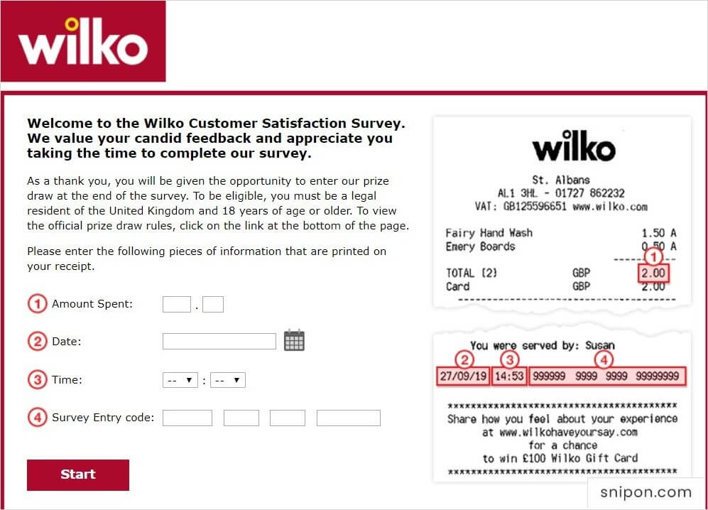 Enter Required Information - www.wilkohaveyoursay.com