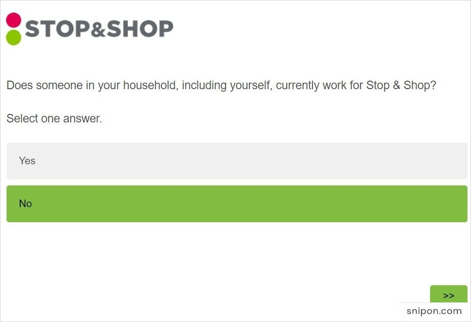 www.talktostopandshop.com survey - Does Someone Work at Stop & Shop in Your Household?