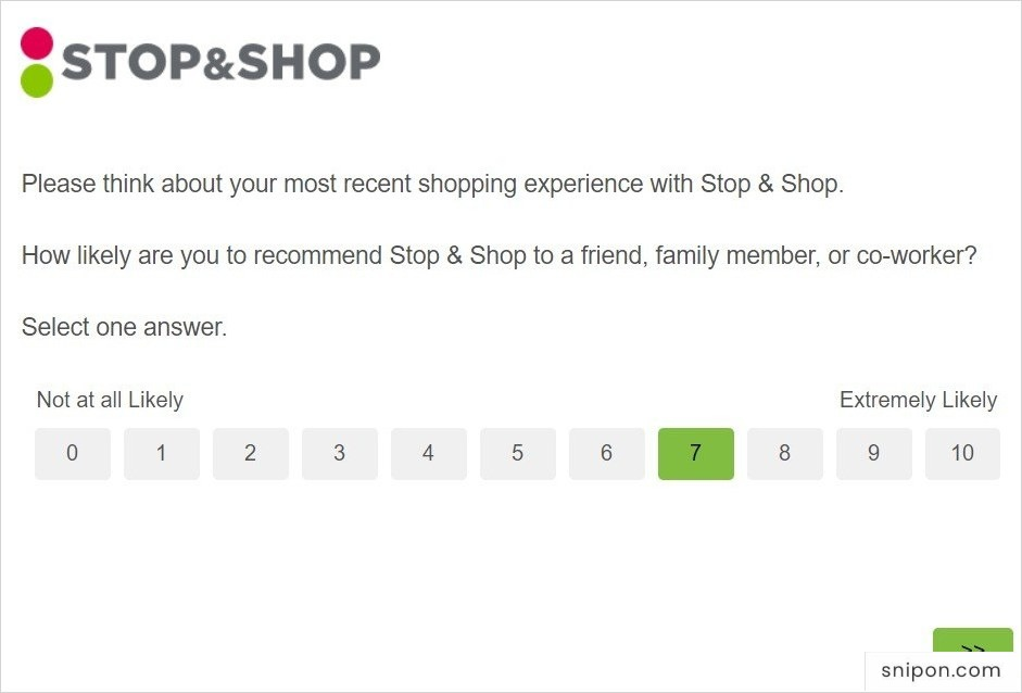 TalkToStopAndShop - How Likely Would You Recommend This Store?