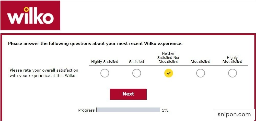 Rate Your Overall Satisfaction - WilkoHaveYourSay