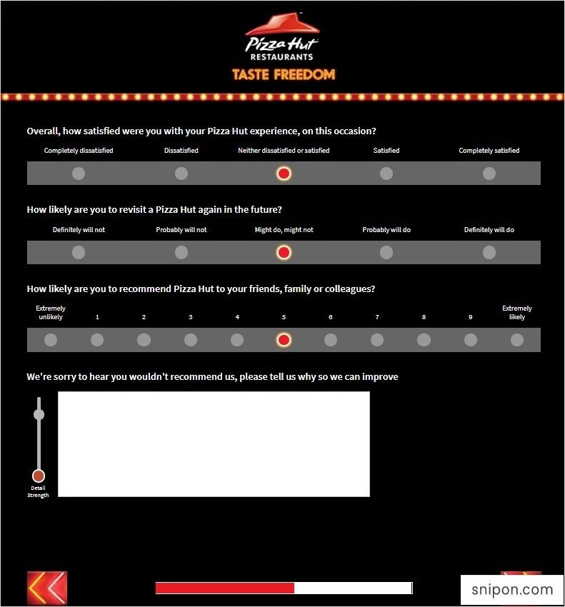 Tell Pizza Hut Survey - Answer Questions Related to Your Satisfaction