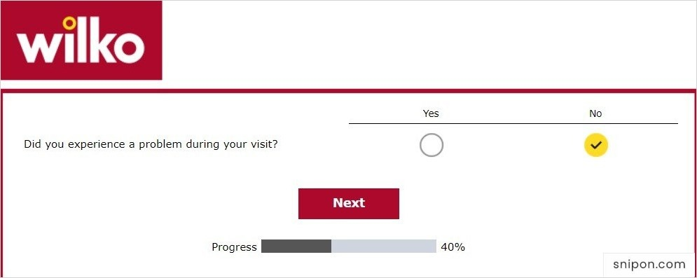Report Problem, Rate Questions & Provide Feedback - www.wilkohaveyoursay.com survey