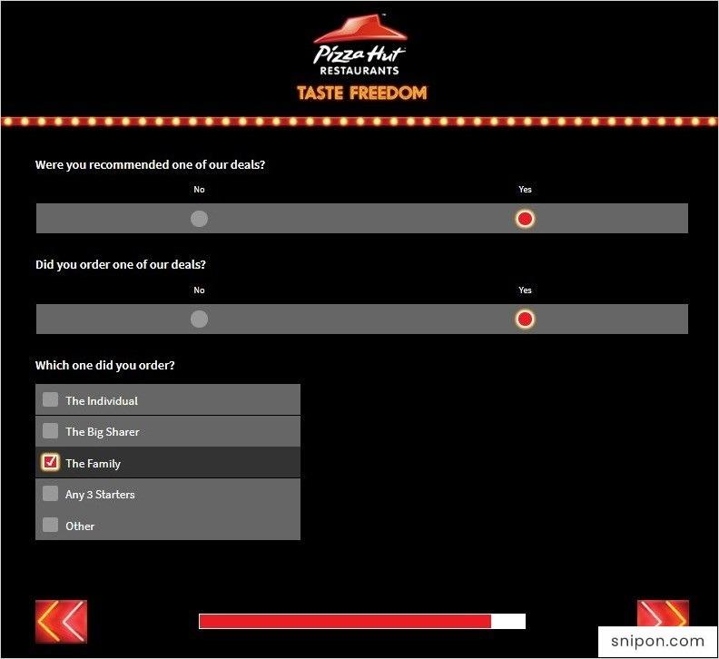 Tell Pizza Hut - Provide Feedback on Deals