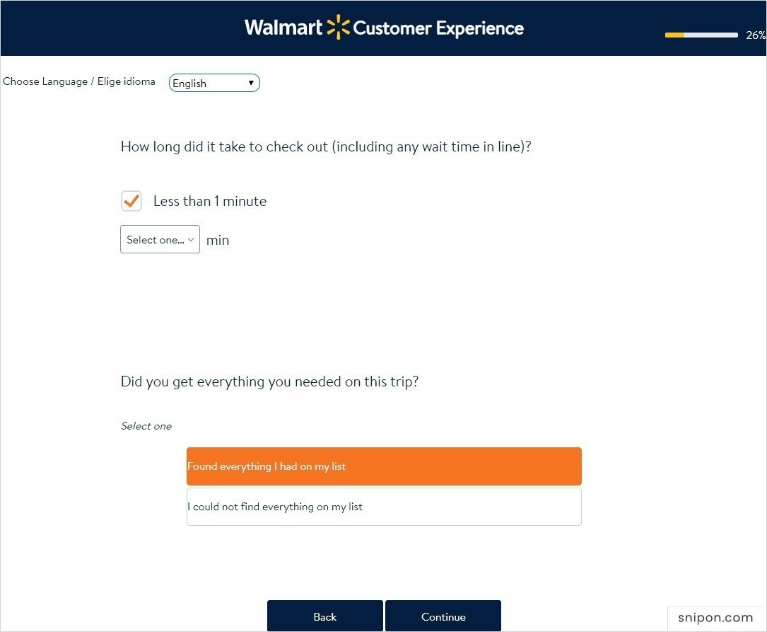 Answer Questions Related to Checkout & Product Availability - Walmart Survey