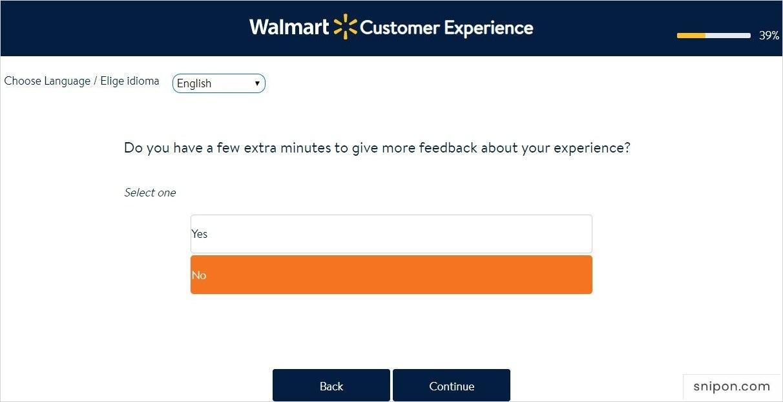 Extra Feedback - www.survey.walmart.com