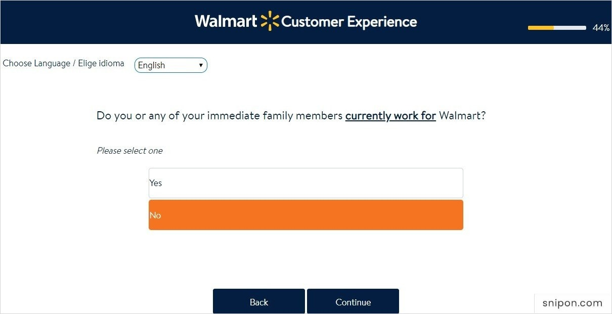 Do You Work for Walmart? - Survey Walmart
