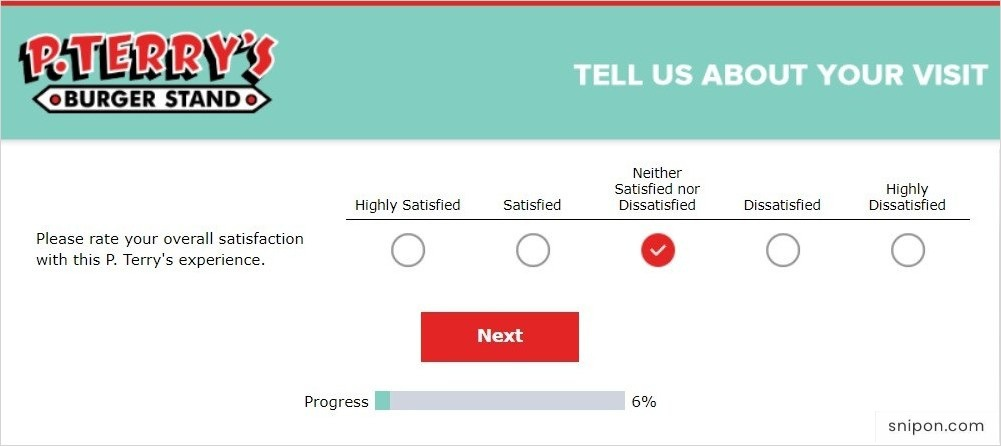 Rate Your Overall Satisfaction - P. Terry's Survey