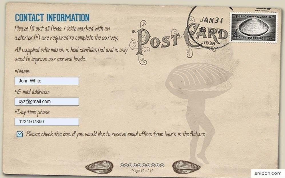 Enter Personal Information - TellIvars.com