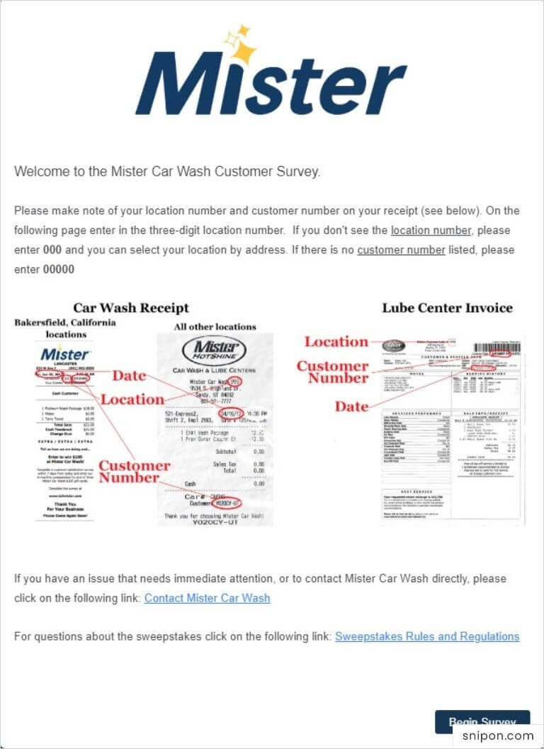 Welcome to TellMister Survey - Mister Car Wash Survey
