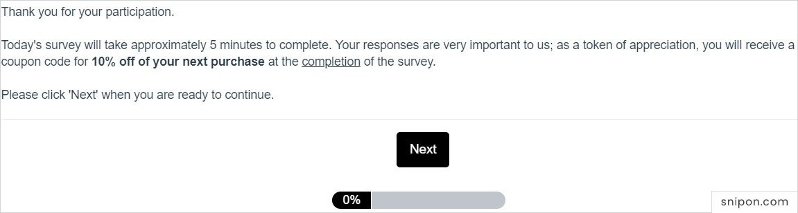 Read The Welcome Page of Izod Survey