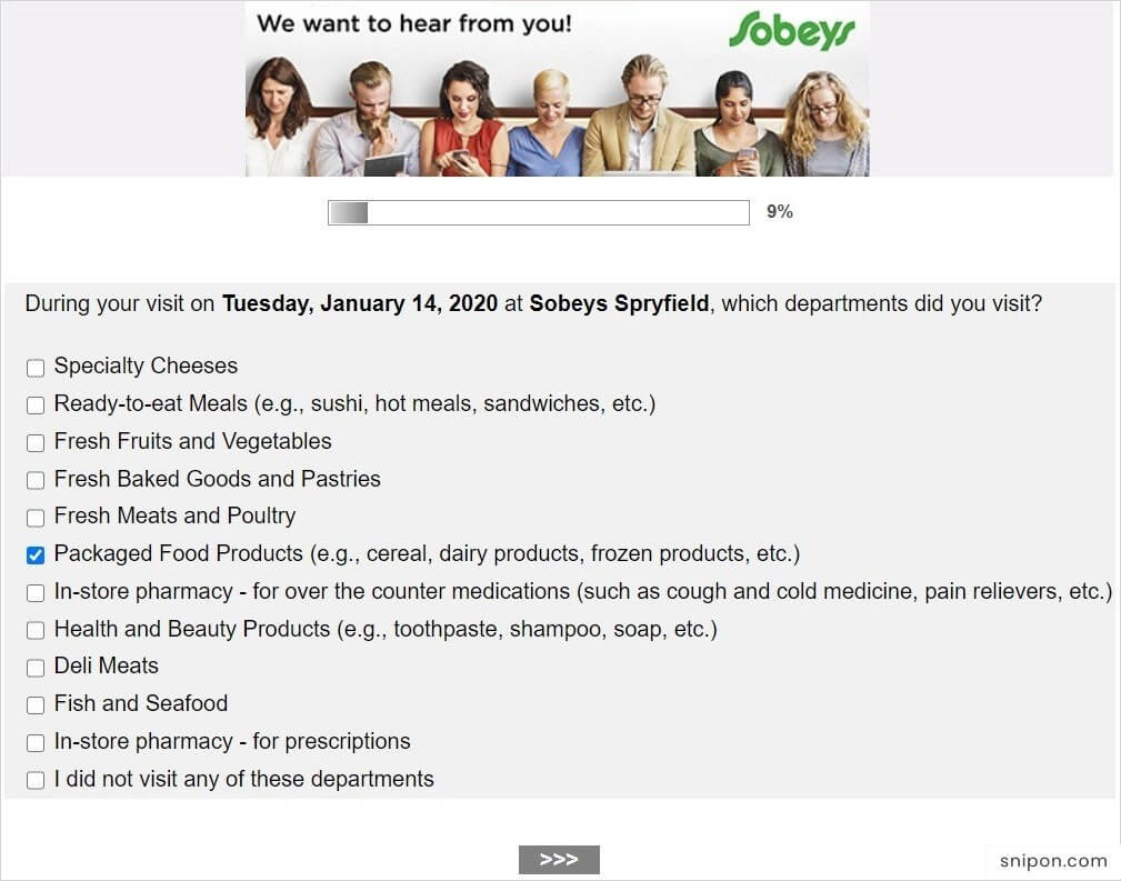 Rate Departments According to Products & Services - MySobeys