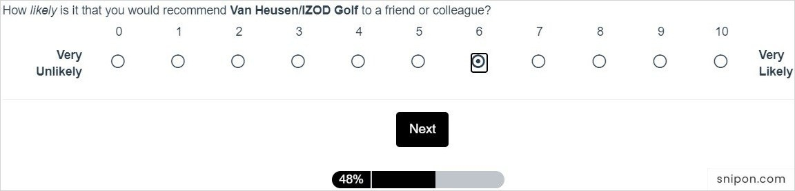 How Likely Would You Recommend Izod To Others? - Izod survey