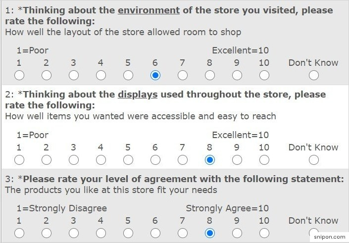 Rate Environment, Displays & Products - Save-On-Foods