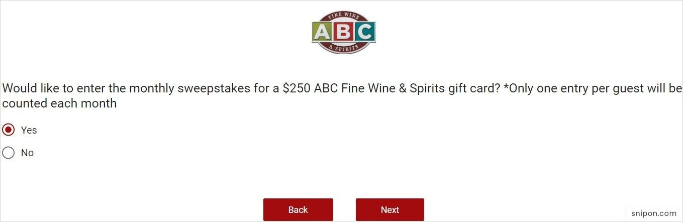 Enter The Monthly $250 Gift Card Sweepstakes - www.ABC-Survey.com