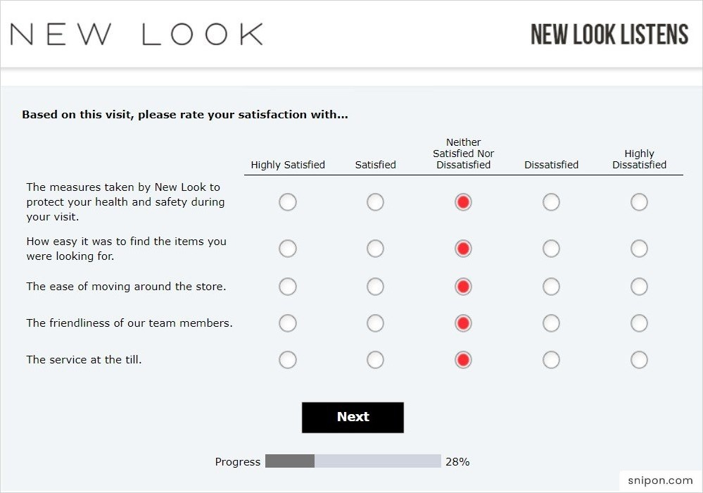 Rate Your Satisfaction With Some Questions - www.mynewlooklistens.com