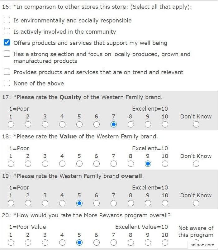 Rate Quality, Value, & Other Programs - www.saveonfoods.com/survey