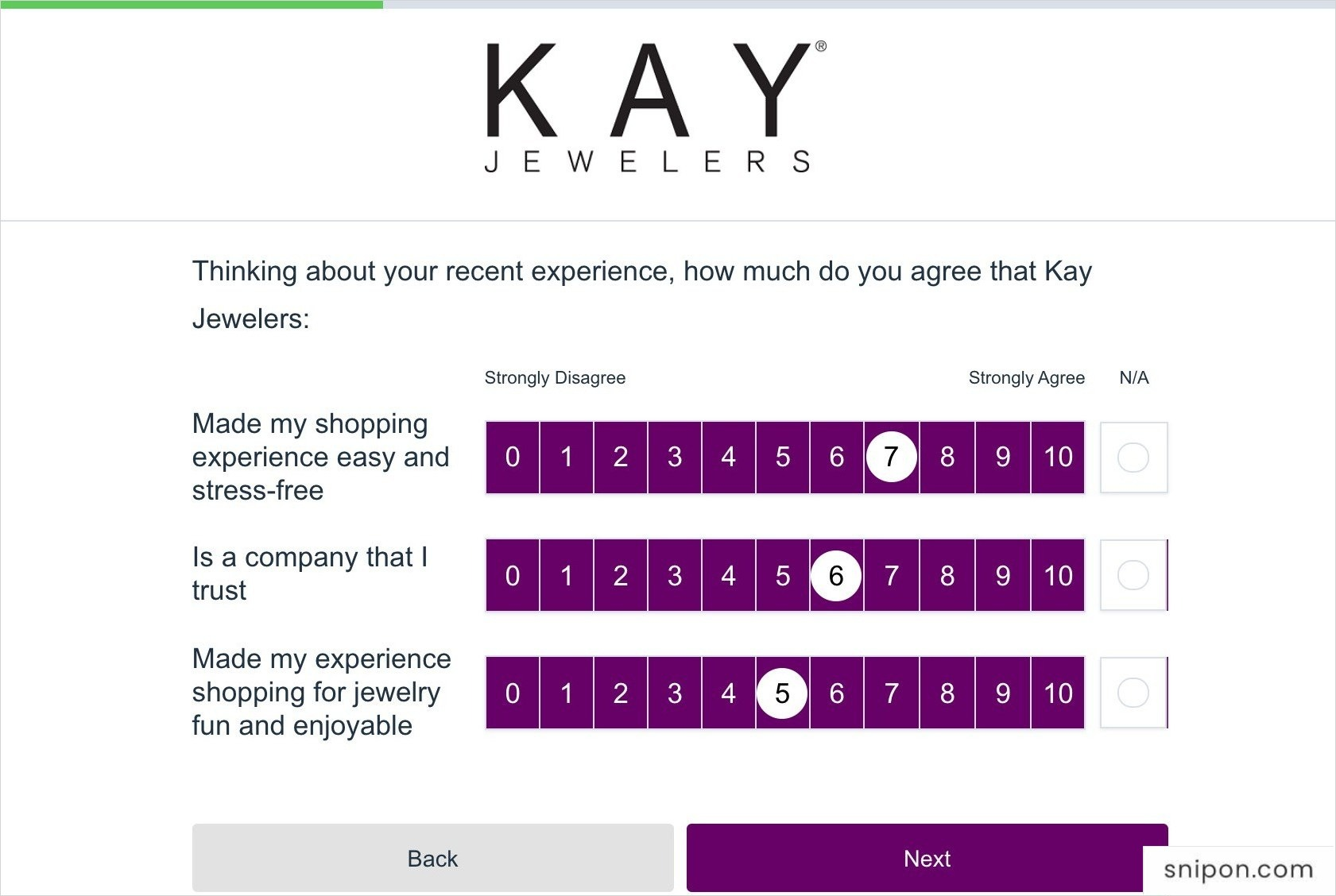 Answer More Questions - Kay Jewelers Survey
