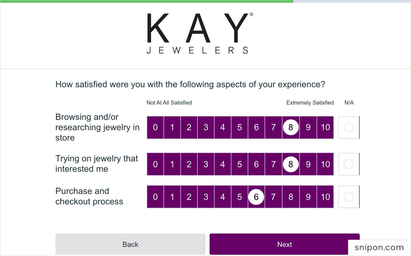 Rate More Questions Related To Satisfaction - Survey.Kay.com