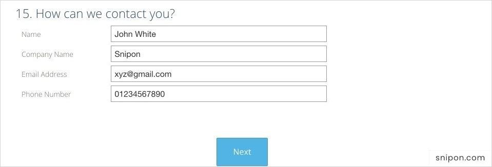 Enter Contact Information - EmasrListens