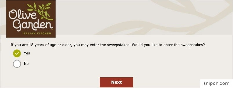 Enter The Sweepstakes & Provide Information