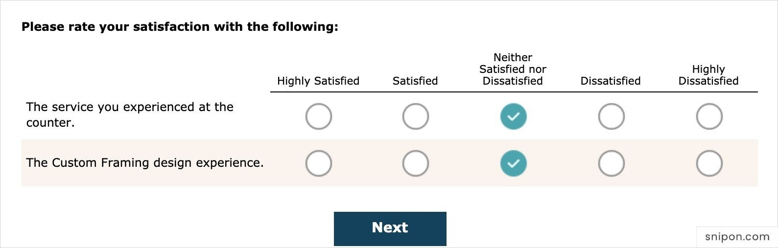 Rate Your Satisfaction With... - MyMichaelsCustomFraming