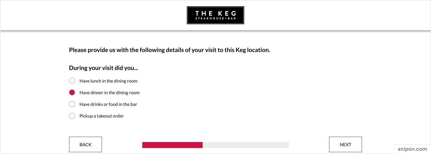 Provide Your Visit Details - www.KegFeedback.com