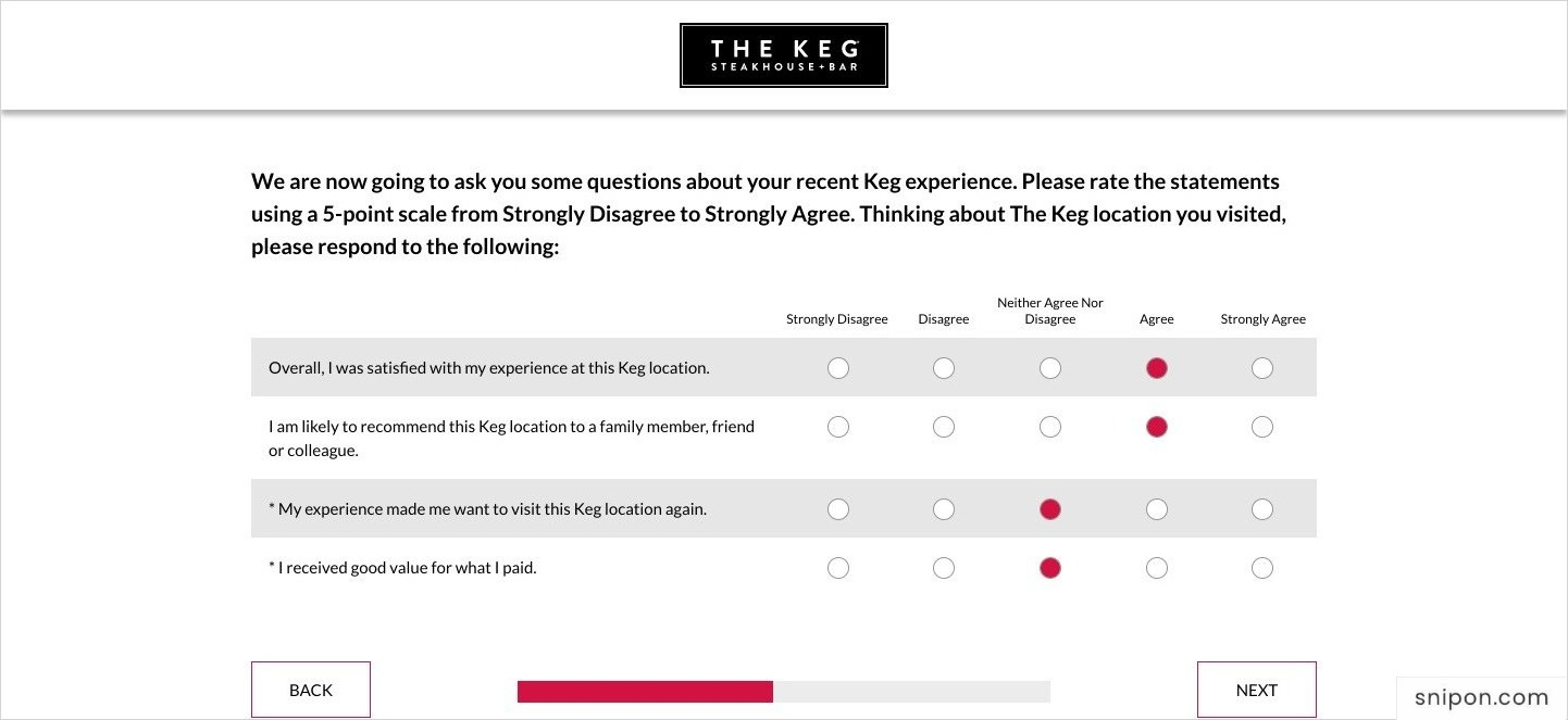 Rate The Statements - www.KegFeedback.com