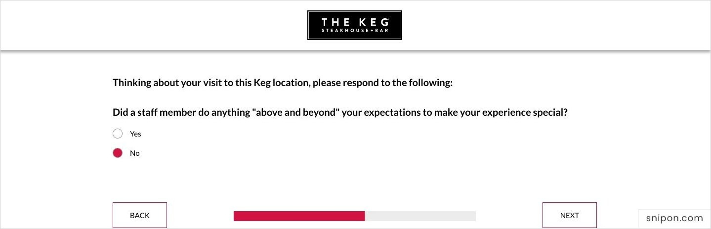 Tell If A Staff Member Did Anything Beyond Your Expectations - www.KegFeedback.com