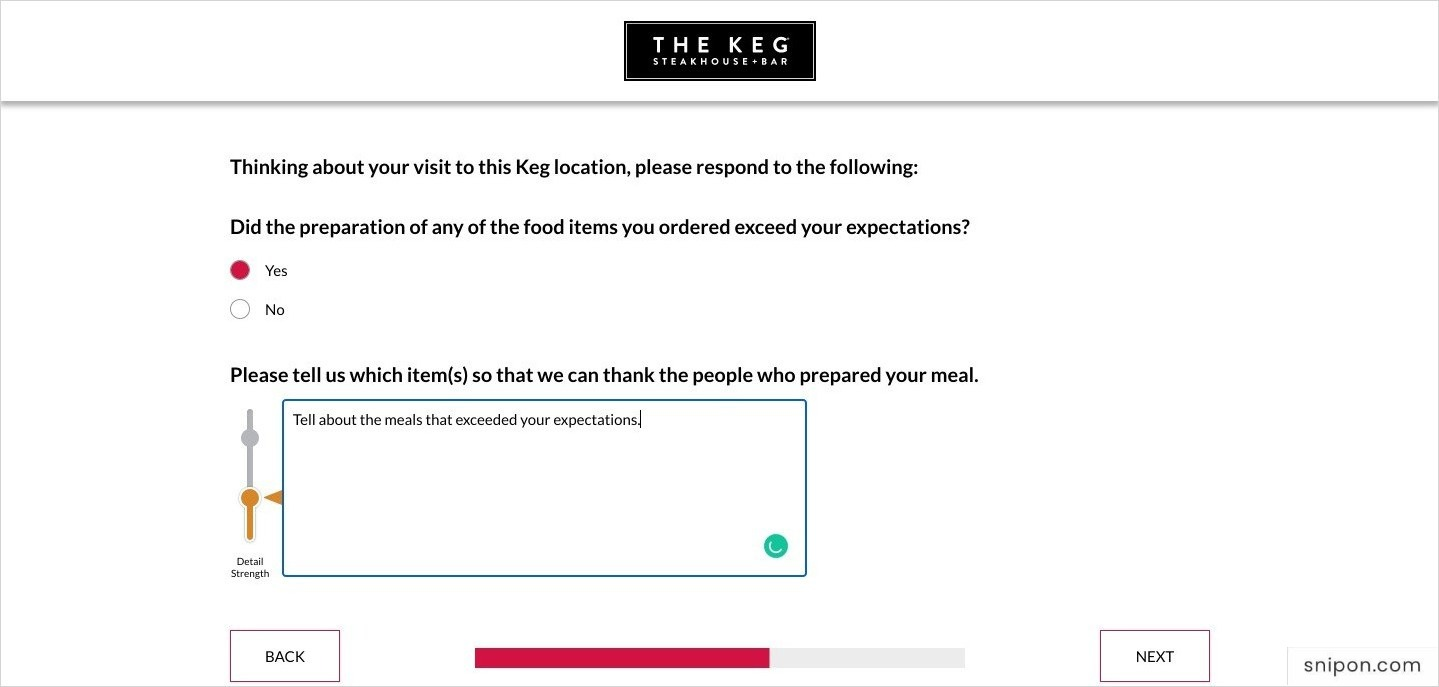 Now Tell If Any Food Item Exceed Your Expectations - www.KegFeedback.com