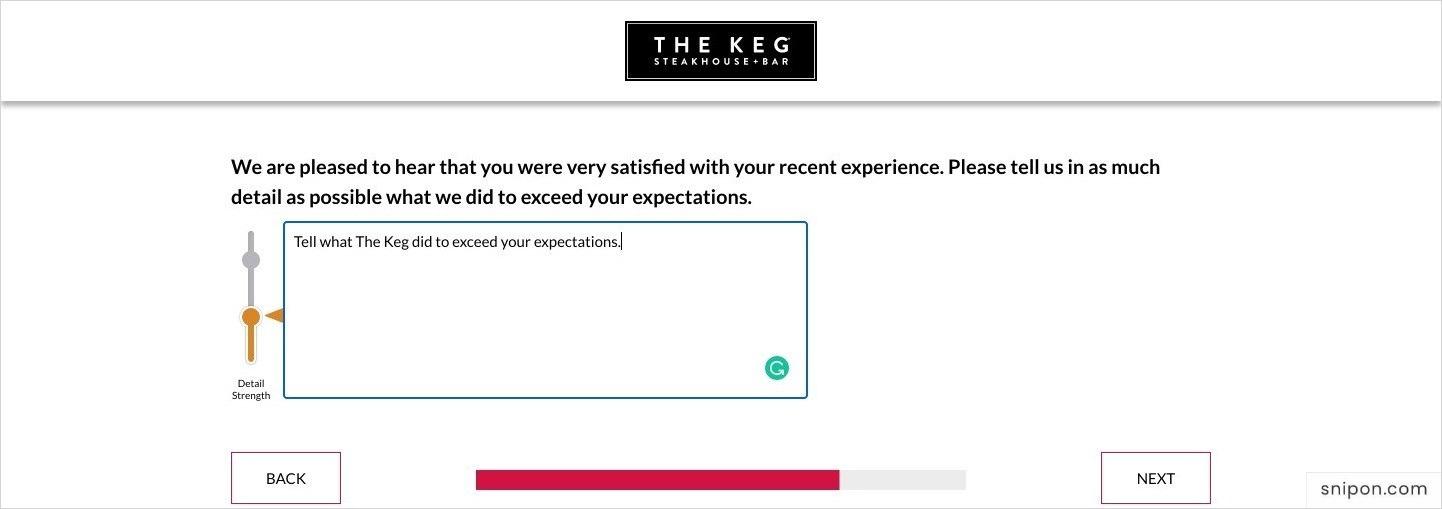 Explain Further - Keg Feedback Survey