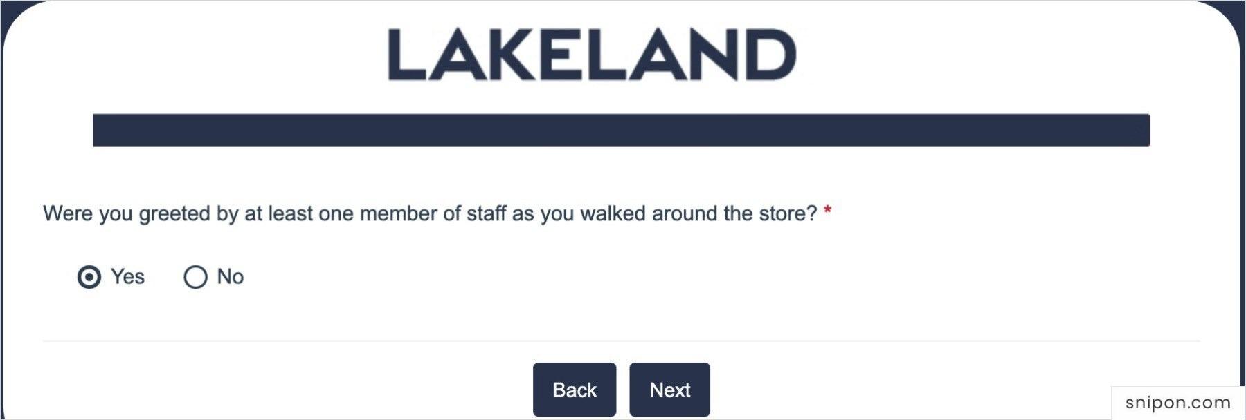 Were You Greeted? Lakeland Survey